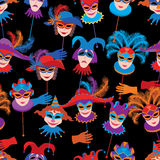 Carnival masks pattern Royalty Free Stock Image