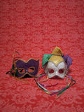 Carnival masks on red Royalty Free Stock Photography