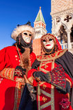 Carnival masks on St. Marks Square in Venice, Italy Stock Photo