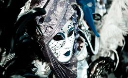 Abstract woman mask of many colors. The carnival and the masks,and symbols of beautiful Venice in Italy Royalty Free Stock Image