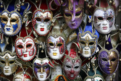 Carnival masks Venice. Beautiful carnival masks - Venice, Italy displayed on black Royalty Free Stock Image