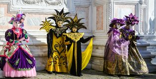 Carnival masks in Venice. The Carnival of Venice is a annual festival held in Venice, Italy. The festival is word famous for its e. Laborate masks stock photography