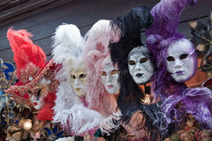 Carnival masks in Venice. Mardi Gras Royalty Free Stock Photos