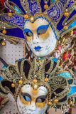 Carnival masks of the world most famous grand canal venice histo Stock Photo
