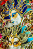 Carnival masks of the world most famous grand canal venice histo Stock Photos