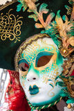 Carnival masks of the world most famous grand canal venice histo Royalty Free Stock Photo