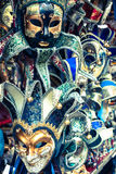 Carnival masks of the world most famous grand canal venice histo Royalty Free Stock Image