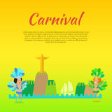 Carnival or Masquerade Brazil Banner Template Royalty Free Stock Photos