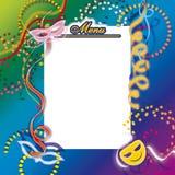 Carnival menu Stock Photo