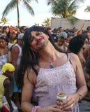 Carnival. A merry reveler at Rio de Janeiro carnival Stock Photo