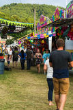 Carnival Midway. Buchanan, VA - June 29: Carnival Midway at the annual Buchanan Community Carnival on June 29, 2015, Buchanan, Virginia, USA stock photo