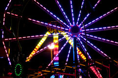 Carnival Midway. Midway at a State Fair carnival amusement park Royalty Free Stock Images