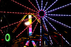 Carnival Midway. Midway at a State Fair carnival amusement park Royalty Free Stock Image