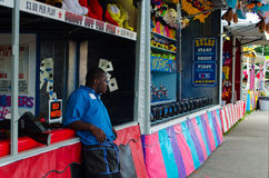 carnival midway worker Stock Photos