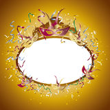 Carnival mirror square stock illustration