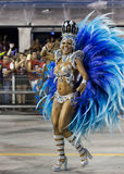 Carnival Muse Samba Dancer Brazil - Cintia Mellow. São Paulo, Brazil- February 7, 2016: Brazilian model and professional samba dancer, Cintia Mellow performing Royalty Free Stock Images