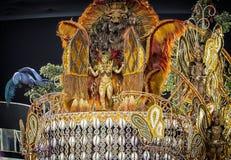 Carnival Muse Samba Dancer Brazil On Float Stock Photos