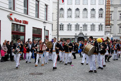 Carnival musical band from Croatia Stock Photos