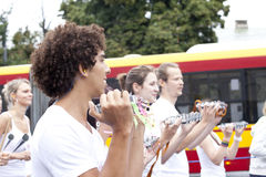 Carnival musicians Royalty Free Stock Photography