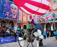 Carnival of Nice on February 21, 2012, France Royalty Free Stock Photo