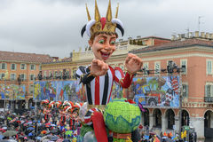 Carnival of Nice in French Riviera stock image