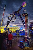 Carnival night scene. View of a carnival in Genoa Italy royalty free stock photos