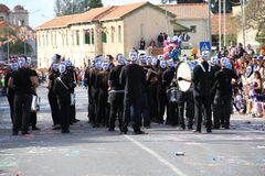 Carnival Orchestra. Pafos, Cyprus - March 16, 2013: Carnival Orchestra at the Carnival royalty free stock images