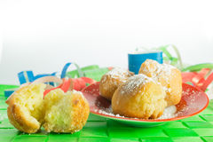 Carnival pancakes in the shape of ball Stock Photo
