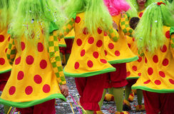 Carnival Parade. With colorful costumes. Parade is from Limassol Cyprus Stock Photos