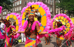 Carnival Parade. Carnival dancers in the parade at the Caribbean Carnival in Rotterdam