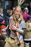 Carnival parade in Bavaria with colorful costums Royalty Free Stock Photos