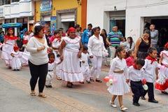 Carnival parade in Ecuador royalty free stock photos