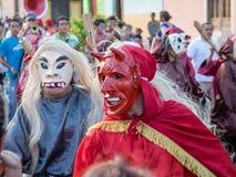 Carnival parade in Granada. Carnival parade with dancing People in Granada, Nicaragua stock image