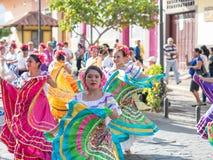 Carnival parade in Granada. Carnival parade with dancing People in Granada, Nicaragua Stock Photos