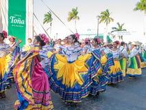 Carnival parade in Granada. Carnival parade with dancing People in Granada, Nicaragua royalty free stock photo