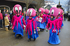 Carnival parade with Octopus costums Royalty Free Stock Images