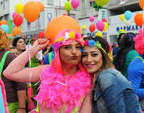 Carnival parade  Portraits, Limassol Cyprus 2015 Royalty Free Stock Image