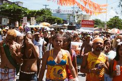 Carnival parade in recife,pernambuco, brazil stock photo