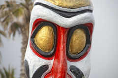 Carnival parade wagon detail african tribal mask Stock Images