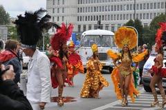 Carnival Parade in Warsaw. Participants in the Carnival Parade - Bom Dia Brasil Stock Photo