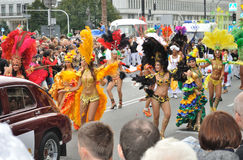 Carnival Parade in Warsaw. Participants in the Carnival Parade - Bom Dia Brasil Stock Photography