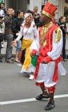 Carnival Parade in Warsaw. Participants in the Carnival Parade - Bom Dia Brasil Royalty Free Stock Image