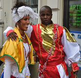 Carnival Parade in Warsaw. Participants in the Carnival Parade - Bom Dia Brasil Royalty Free Stock Photography
