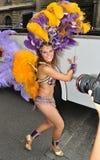 Carnival Parade in Warsaw. Dancer in the Carnival Parade - Bom Dia Brasil Stock Photography
