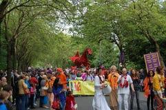 Carnival parade, West End Festival, Glasgow. Kelvingrove Park, Glasgow, Scotland, UK - 5 June 2011: the carnival parade at Glasgow's West End Festival.  Glasgow' Stock Photography