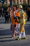 Carnival parades in Barcelona of Spain Stock Photos