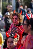 Carnival parades in Barcelona of Spain Royalty Free Stock Photo