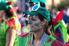 Carnival parades in Barcelona of Spain Royalty Free Stock Photography
