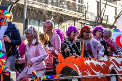 Carnival parades in Barcelona of Spain Royalty Free Stock Images