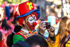 Carnival parades in Barcelona of Spain Stock Images